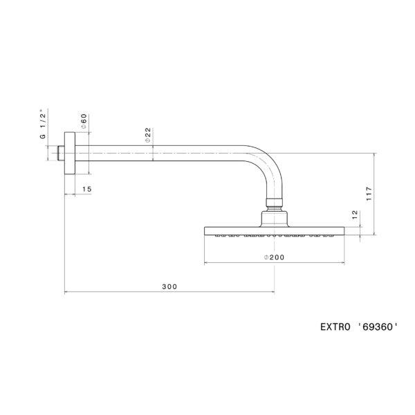 Newform Xtro 69360_technical_drawing Stiles