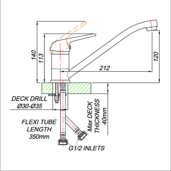 Blutide MT80020 tech drawing stiles
