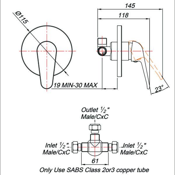 blutide MT80000 tech drawing stiles