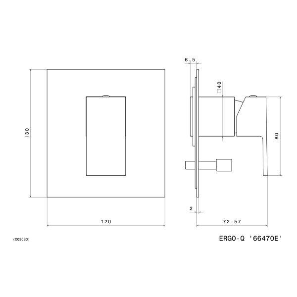 Newform Ergo Q Art. 66470E diverter tech Stiles