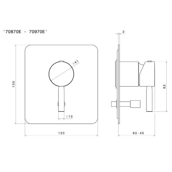 Newform Blink COMPLESSIVO QUOTATO 'D-SIMPLE 70870E-70970E' (MIX VASCA INCASSO Stiles