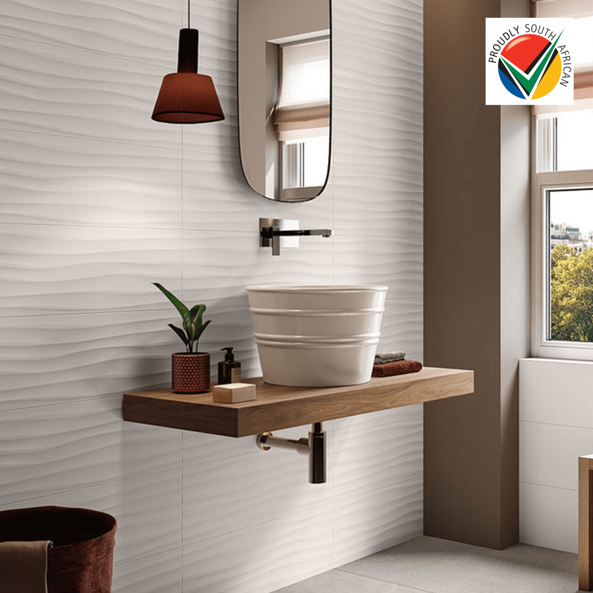 Ceramic Industries Onda Bianco 300x600mm_lifestyle
