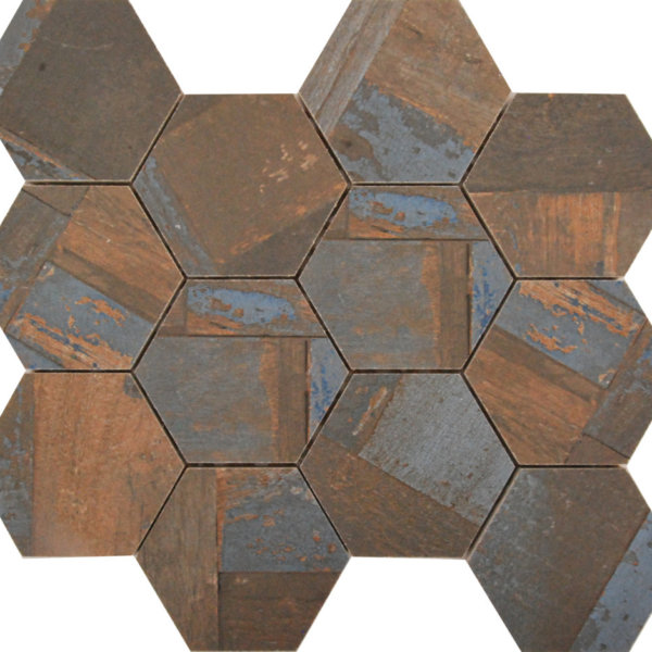 DJ Doors Arezzo Hexagon 265x308mm_Stiles_Product_Image