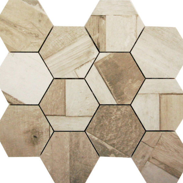 DJ Doors Bergamo Hexagon 265x308mm_Stiles_Product_Image