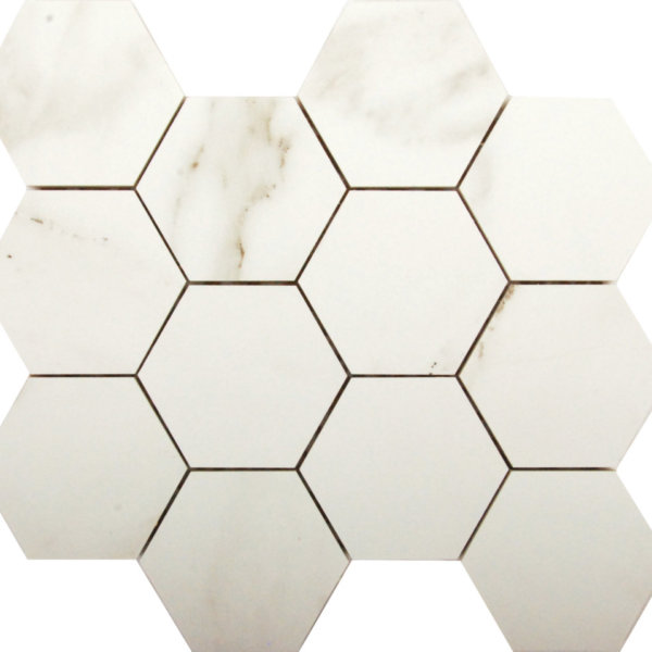 DJ Doors Carrara Hexagon 265x308mm_Stiles_Product_Image