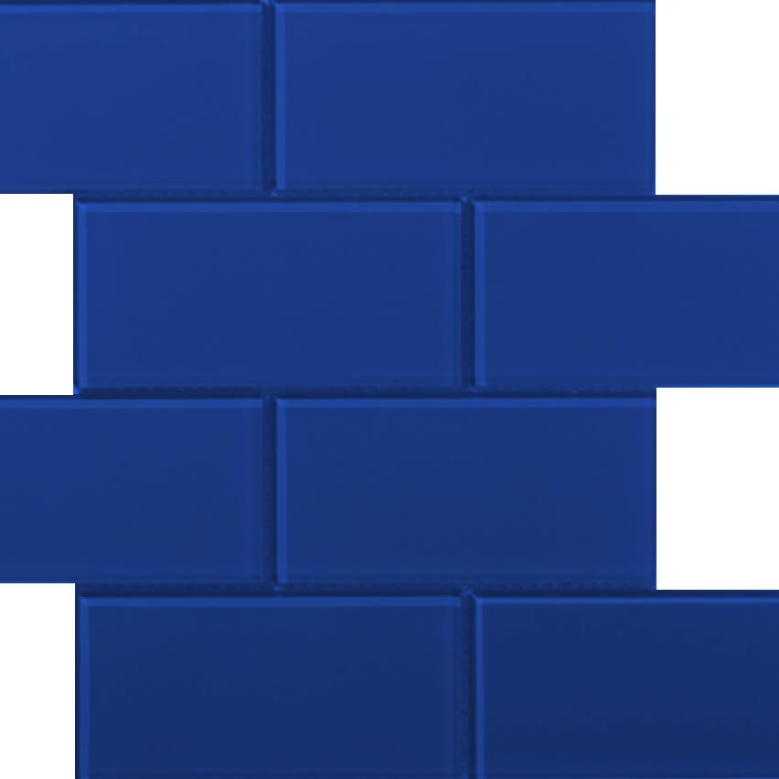 DJ Metro Glass Royal Blue 300x300mm_Stiles_Product_Image