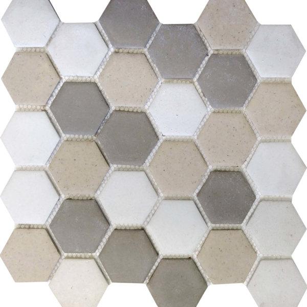 DJ Resin Hexagon Beige Mix 275x280mm_Stiles_Product_Image