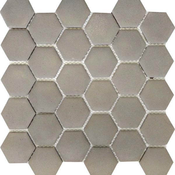 DJ Resin Hexagon Light Grey 275x280mm_Stiles_Product_Image