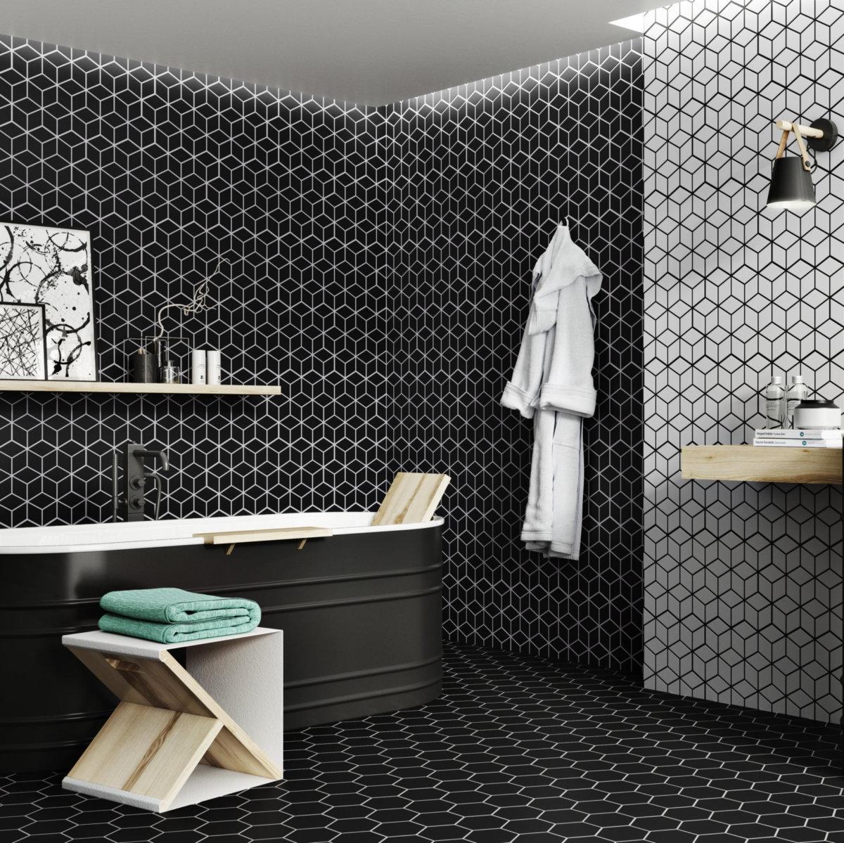 Realonda Rhombus Black 265x510mm_Stiles_Lifestyle_Image