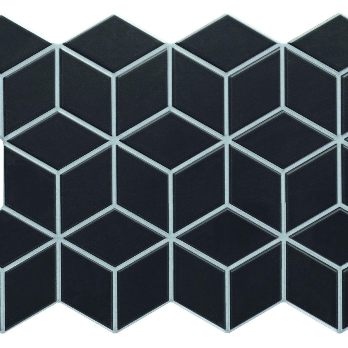 Realonda Rhombus Black 265x510mm_Stiles_Product_Image