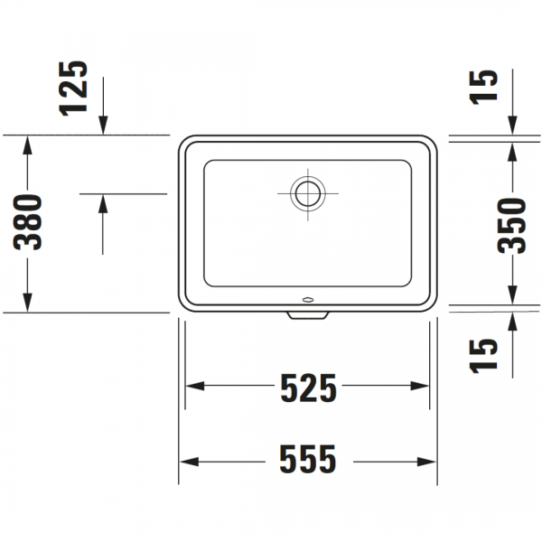 D 2nd Floor Undercounter Basin 525x350mm_Stiles_TechDrawing_Image1