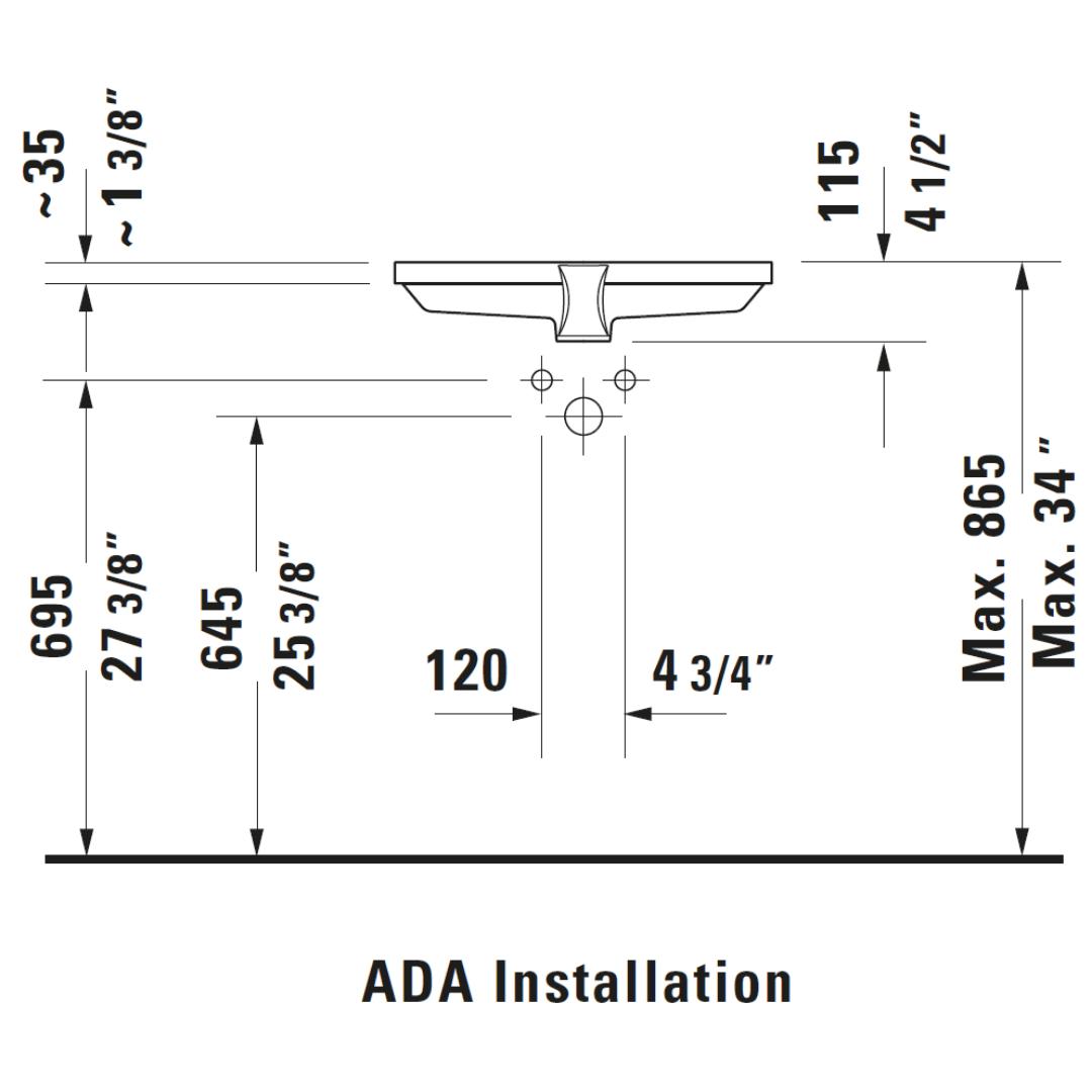 D 2nd Floor Undercounter Basin 525x350mm_Stiles_TechDrawing_Image7