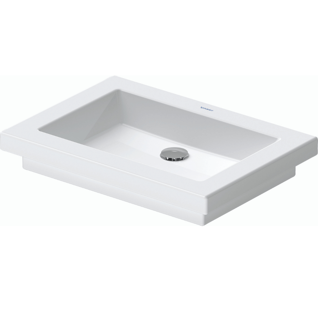 Duravit 2nd floor Grounded Counter Top Basin 580x415mm_Stiles_Product_Image