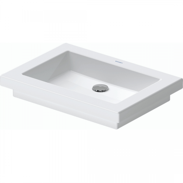 Duravit 2nd floor Grounded Drop-in Basin 580x415mm_Stiles_Product_Image
