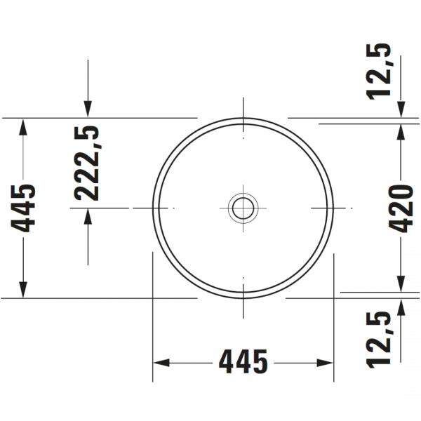 Duravit Architec Round Undercounter Basin 420mm_Stiles_TechDrawing_Image