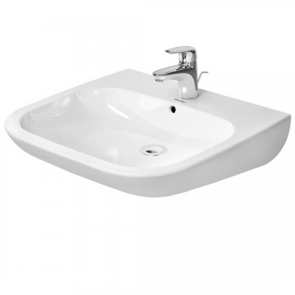 Duravit D-Code Barrier Free Basin 600x550mm_Stiles_Product_Image1
