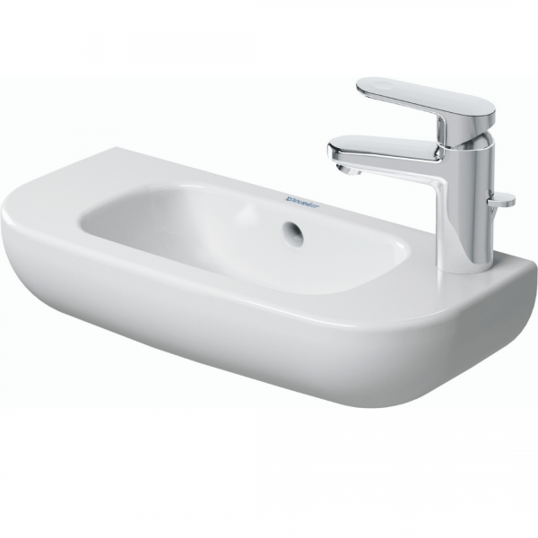 Duravit D-code WM Basin LH 500x220mm_Stiles_Product_Image1