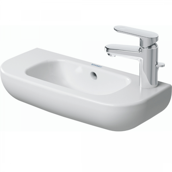 Duravit D-code WM Basin RH 500x220mm_Stiles_Product_Image1
