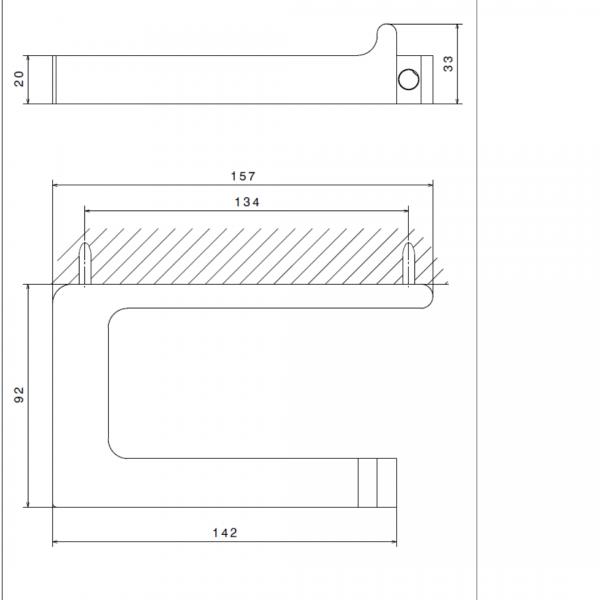 6292321 N XSense Paper Holder_Stiles_TechDrawing_Image