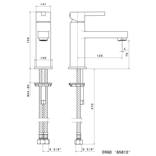 65812_N Ergo Basin Mixer 159mm_Stiles_TechDrawing_Image