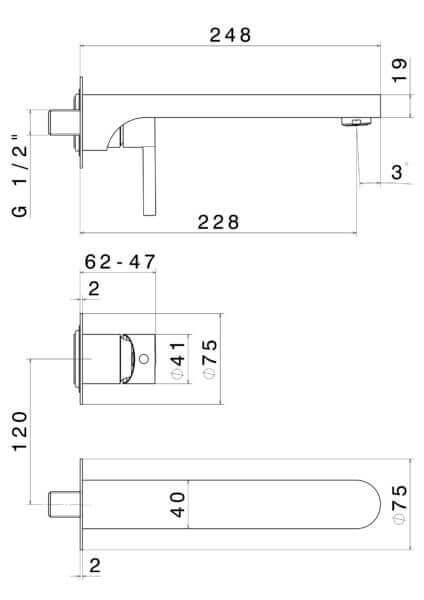 65830_N Ergo Basin Set 228mm (2 piece)_Stiles_TechDrawing_Image