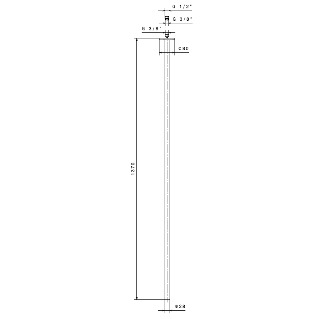 65843 N Ergo Ceiling Spout for Basin Group 1370mm_Stiles_TechDrawing_Image
