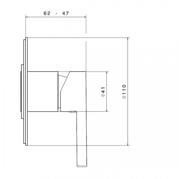 65875E N Ergo Shower Mixer_Stiles_TechDrawing_Image