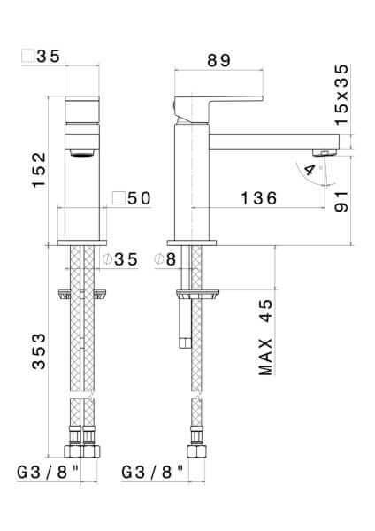 66412_N Ergo Q Basin Mixer_Stiles_TechDrawing_Image