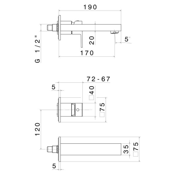 66428E N Ergo Q Basin Set (2 piece)_Stiles_TechDrawing_Image