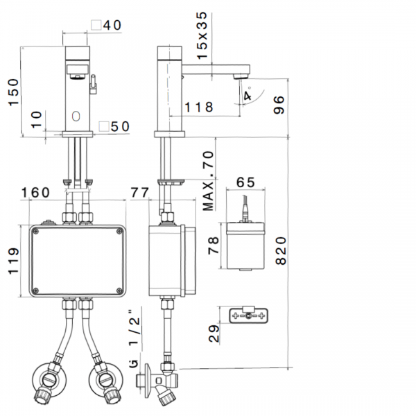 66711_N Sensitive Basin Mixer (square)_Stiles_TechDrawing_Image