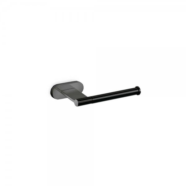 672331 Newform Linfa-Orama Matt Black Toilet Paper Holder_Stiles_Product_Image