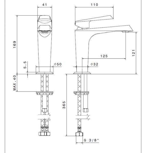 689122 N Nio Basin Mixer_Stiles_TechDrawing_Image