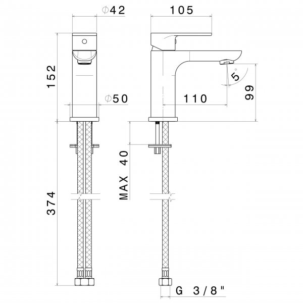 69312 N Extro Basin Mixer_Stiles_TechDrawing_Image