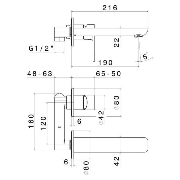 69328 N Extro Basin Set (2 piece)_Stiles_TechDrawing_Image