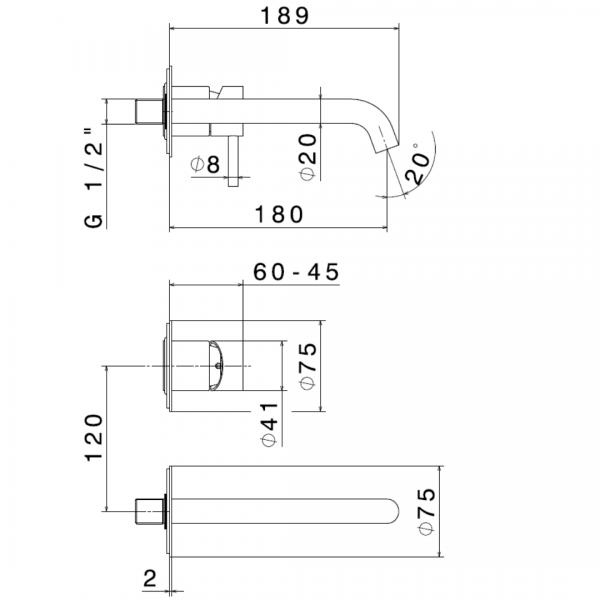 69628X N X-Steel 316 SS Basin Set_Stiles_TechDrawing_Image