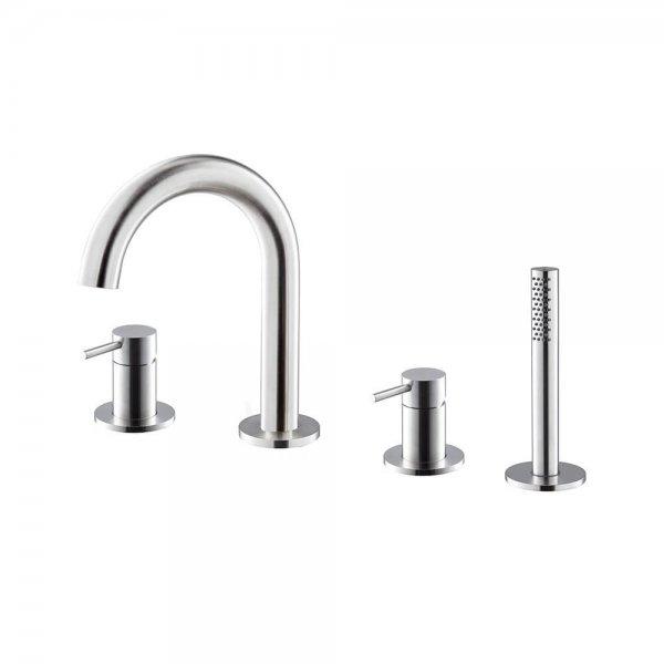 69682X Newform X-Steel 316 Deck Mounted Bath Set_Stiles_Product_Image