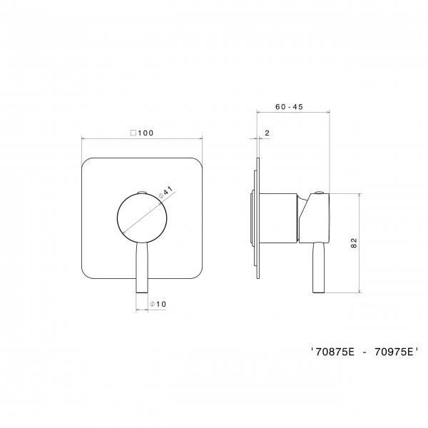 70875E N Blink Shower Mixer_Stiles_TechDrawing_Image