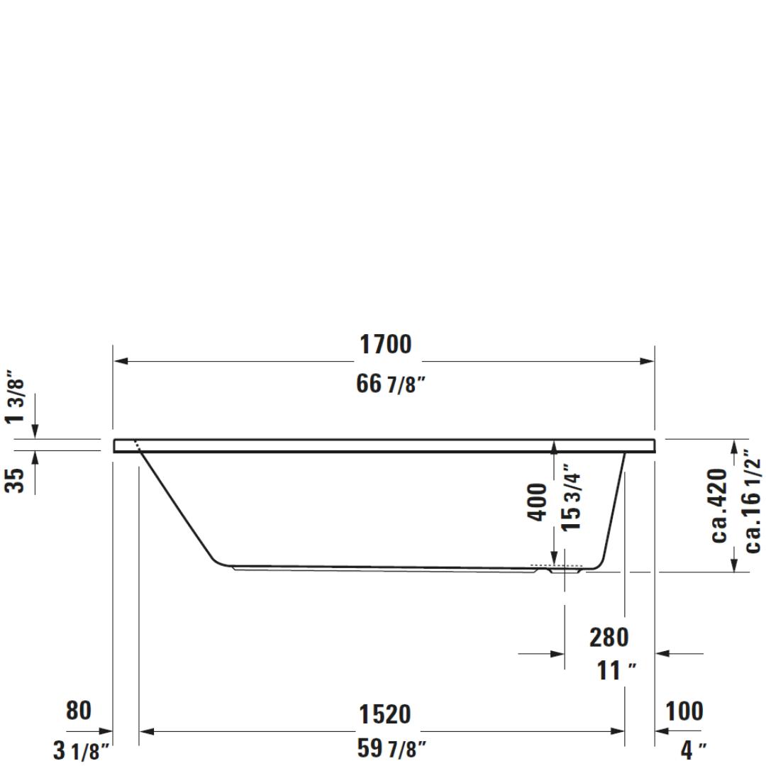 D D-Code BI Bath 1700x750mm_Stiles_TechDrawing_Image2
