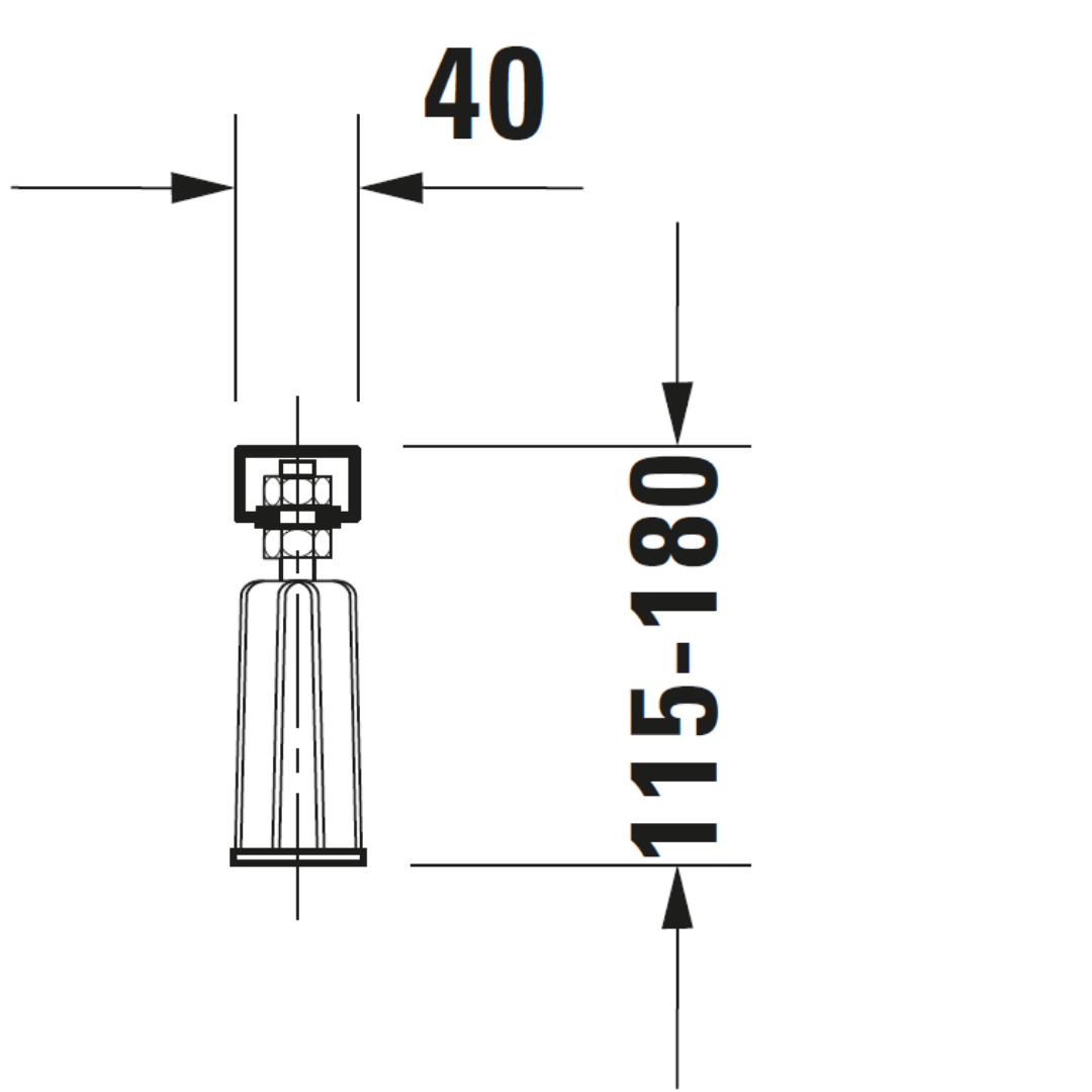 D D-Code support frame for 70100_Stiles_TechDrawing_Image