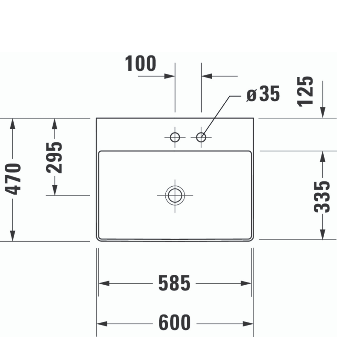 D DuraSquare WM Basin 600x470mm_Stiles_TechDrawing_Image6