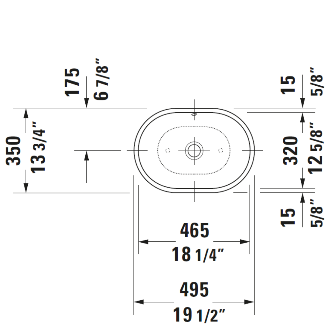 D Foster Counter Top Basin 495x350mm_Stiles_TechDrawing_Image10
