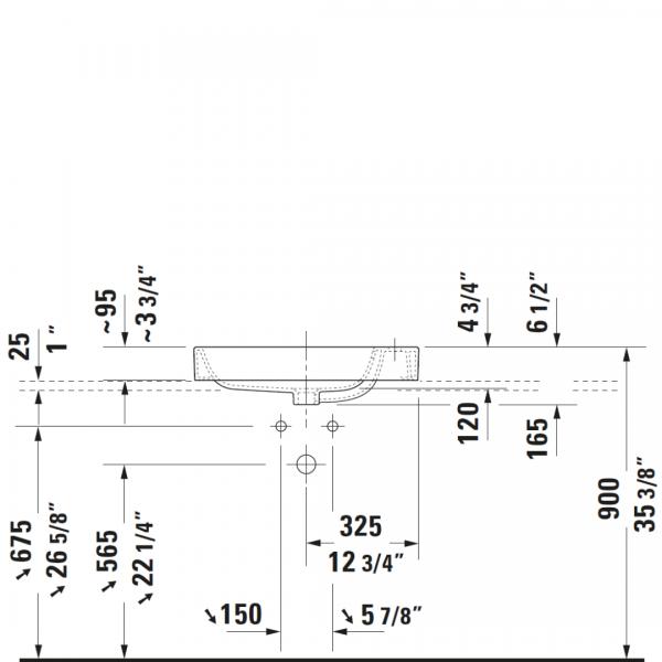 D Happy D2 Basin 650x400mm_Stiles_TechDrawing_Image2