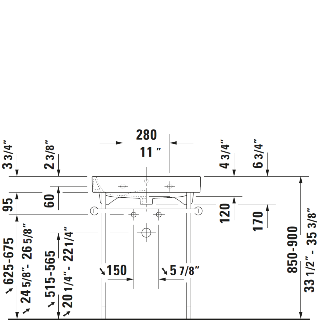 D Happy D2 Metal Console_Stiles_TechDrawing_Image