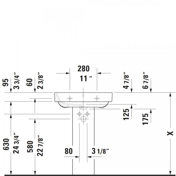 D Happy D2 WM Basin 600x475mm_Stiles_TechDrawing_Image