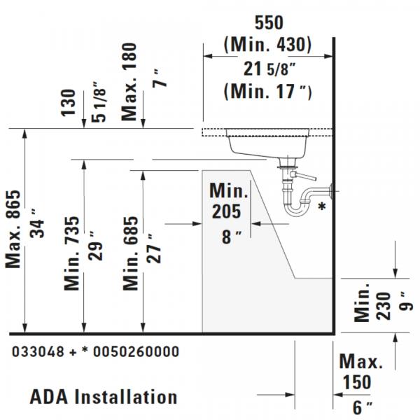 D Vero Undercounter Basin 485x315mm_Stiles_TechDrawing_Image