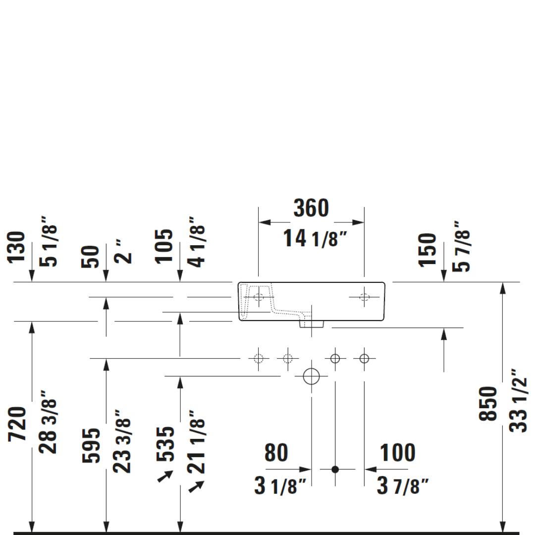 D Vero WM Basin 500x250mm_Stiles_TechDrawing_Image