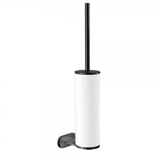 672161 Newform Linfa-ORama Matt Black Toilet Brush Holder_Stiles_Product_Image