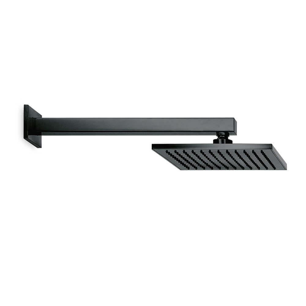 67797B Newform Ergo Q Matt Black Square Shower Rose and Arm_Stiles_Product_Image