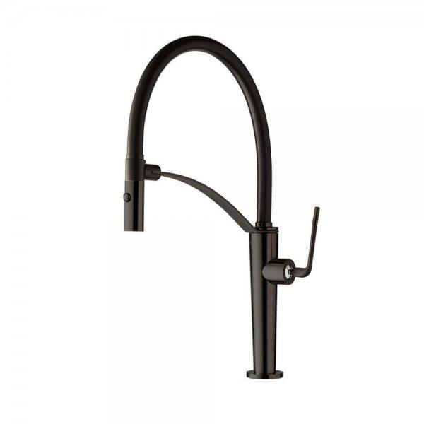 687355 Newform ORama Matt black Sink Mixer (with swivel spout)_Stiles_Product_Image