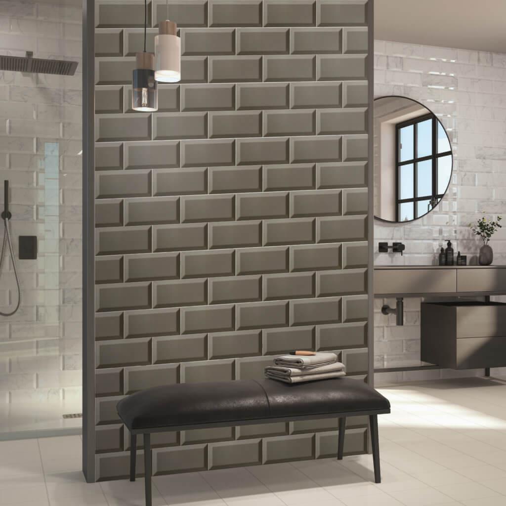 Ceramica Ribesalbes Dark Grey Biselado Brillo 100x200mm_Stiles_Lifestyle_Image